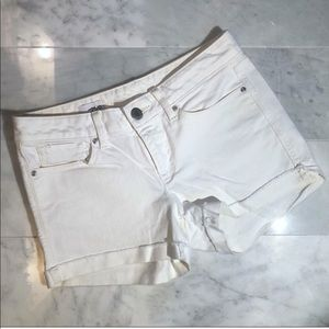 Gap 1969 High Waisted White Denim Cutoff Shorts 4